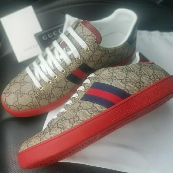 24f2f824cfa Gucci Red Bottom Unisex Sneakers 9.5 US